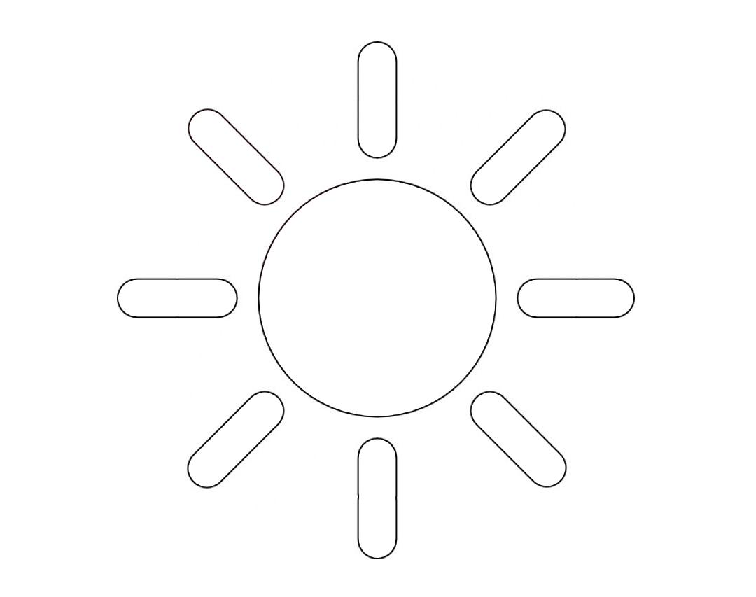 Шаблоны солнышко для вырезания из бумаги